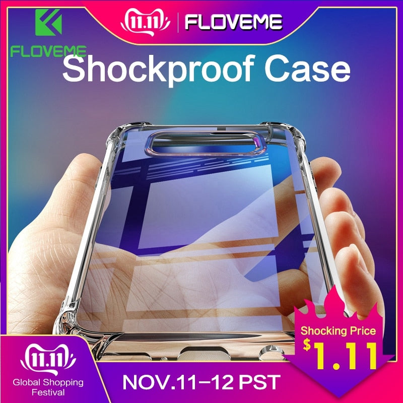 FLOVEME Shockproof Case for Samsung Galaxy S10 Plus S10e S8 S9 Plus Soft Silicone Phone Cases for Samsung Note 9 8 S7 Back Cover - zolean