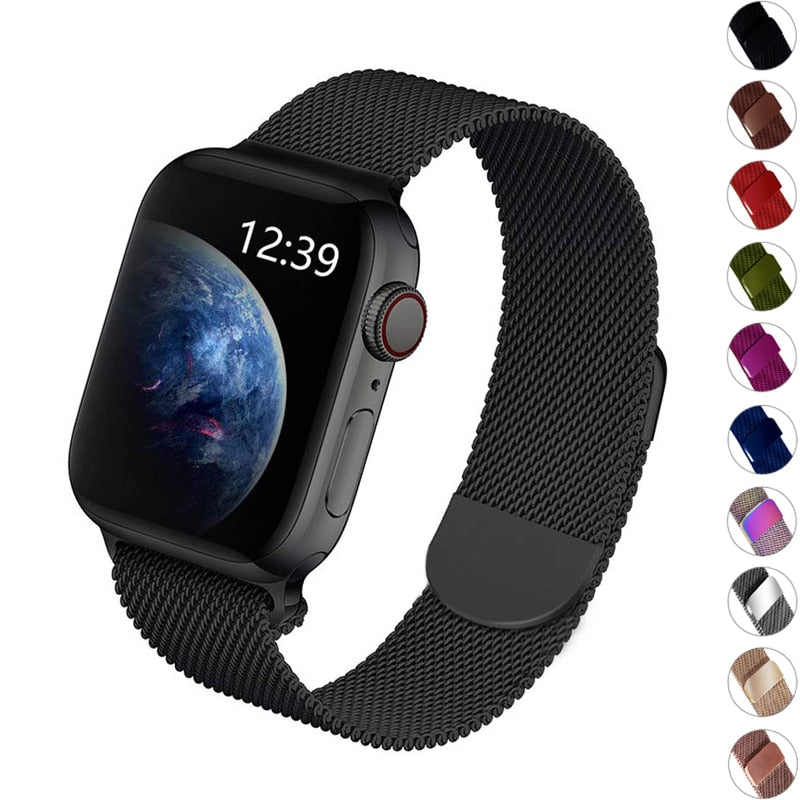 milanese loop for apple watch band 42mm 38mm apple watch strap 4 5 44mm 40mm iwatch 5/4/3/2/1 bracelet metal watchband - zolean