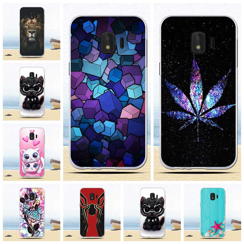 TPU Silicone Case For Samsung Galaxy J2 Core 5.0 inch Colorful Flowers Phone Cover  For Samsung J260 J260F J 2 2J J2Core cases - zolean