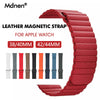 Band For Apple Watch Band Strap 42mm 38mm Iwatch 5 4 3 2 1 Mdnen Closure Loop Genuine Leather Link Bracelet Magnetic Buckle - zolean