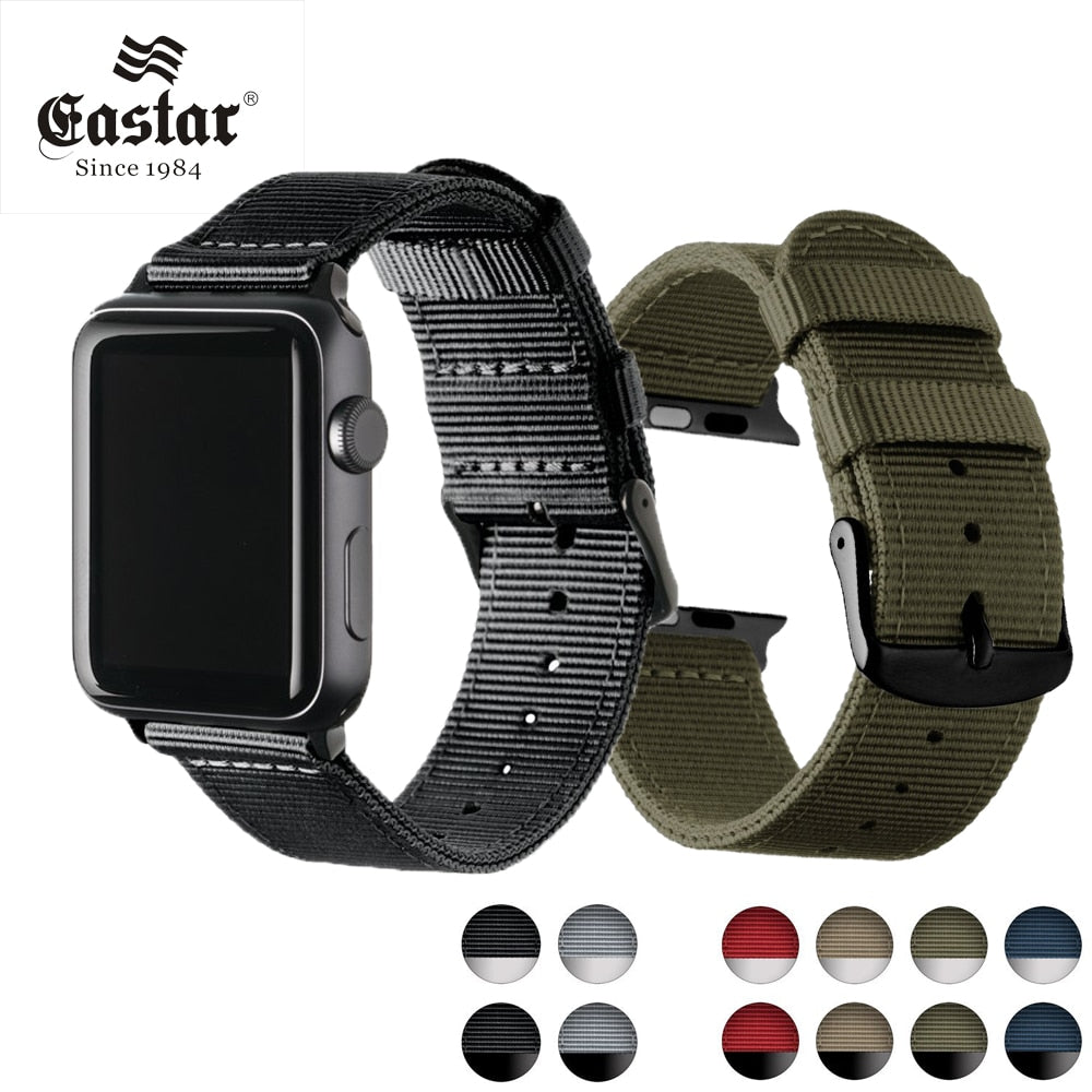 Eastar Lightweight Breathable waterproof Nylon strap for apple watch 5 band 42mm 38mm for iWatch serise 4 3 2 1 watchband - zolean
