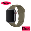 Silicone Strap For Apple watch 5 band 40mm 44mm 42mm 38mm apple watch 4 apple watch 5 correa iwatch watchband Watch Accessories - zolean