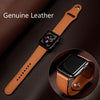 Strap For apple watch band 44mm 40mm iwatch band 42mm 38mm Genuine Leather bracelet belt watchband for apple watch  5 4 3 2 44 - zolean
