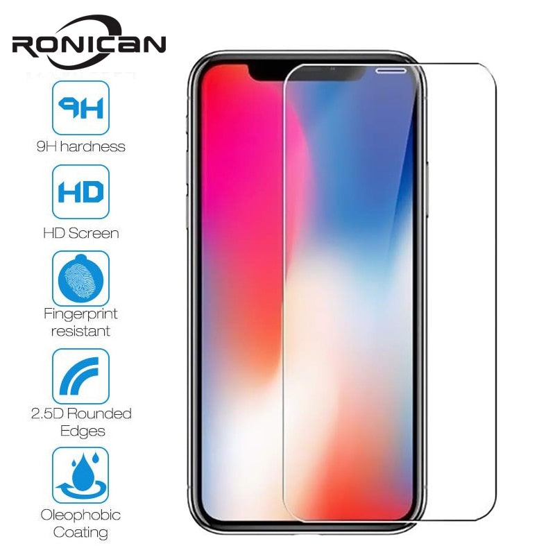 10Pcs Tempered Glass For iPhone X XS MAX XR 4 4s 5 5s SE 5c Screen Protective Film For iPhone 6 6s 7 8 Plus X 11 Glass Protector - zolean