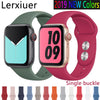 Silicone strap For Apple Watch band 44 mm/40mm iwatch Band 38mm 42mm Sport watchband Rubber bracelet for apple watch 5 4 3 2 1 - zolean