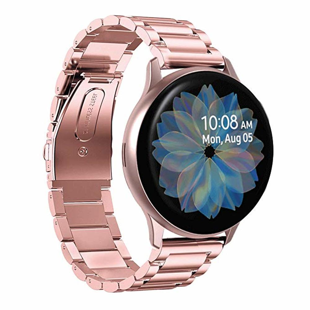 Stainless Steel Strap For Galaxy Watch Active2 40mm 44mm Bands 20mm  22mm for Samsung Galaxy Watch Active 2 3 41 45mm watchband