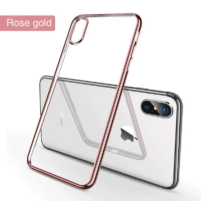 OTAO Ultra Thin Transparent Phone Case For iPhone Soft TPU Silicone Full Cover Shockproof Case - zolean