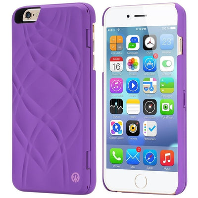 FLOVEME Water Patterned Flip Case For iPhone 6 6S 7 8 Plus Card Slot Wallet Make Up Mirror Back Cover For iPhone 6 7 X Xr Xs Max - zolean