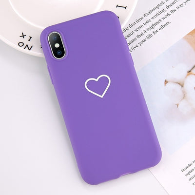 Ultra-thin Lovebay Love Heart Pattern Phone Cases Soft TPU Silicone - zolean
