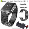 Stainless Steel Watchband for iWatch Apple Watch 38mm 40mm 42mm 44mm Series 1 2 3 4 Wrist Band Link belt Strap Replacement strap - zolean