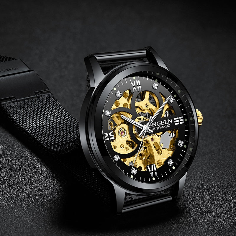 Skeleton Watch 2019 New FNGEEN Sport Mechanical Watch Luxury Watch Mens Watches Top Brand Montre Homme Clock Men Automatic Watch - zolean