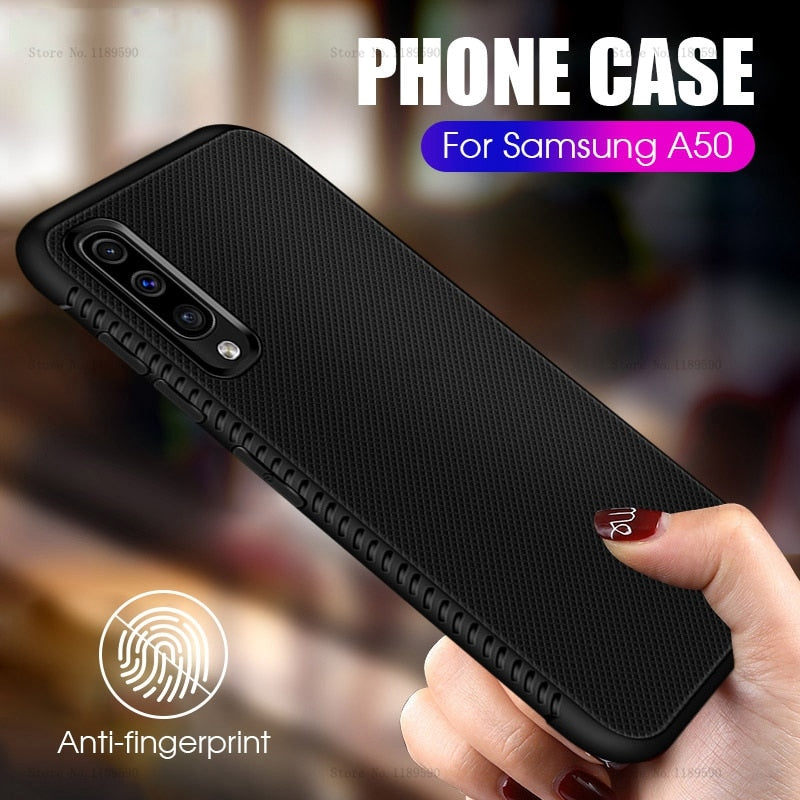 Ultra Thin Black Case For Samsung Galaxy A50 A30 A10 A20 A 50 30 M 10 20 Silicone Matte Cover For Samsung M10 M20 M30 Phone Case - zolean