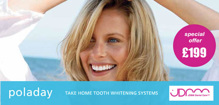 Brighten your smile with a Poladay tooth whitening system