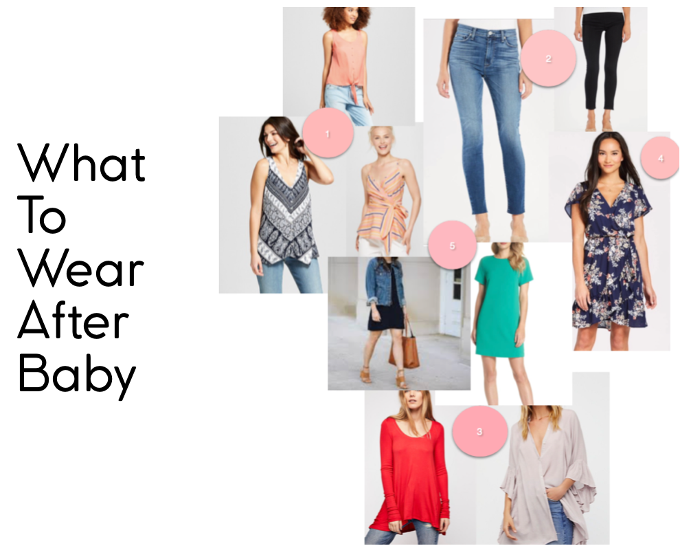 post baby style, postpartum fashion