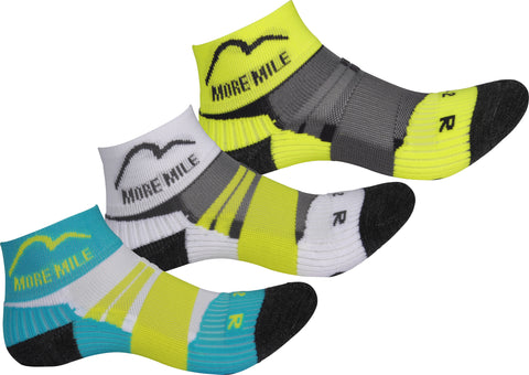 More Mile Endurance (3 Pack) Junior Running Socks - Boys