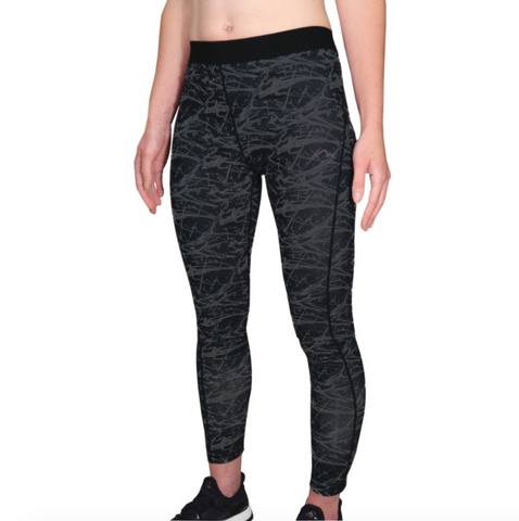 More Mile Go For It Printed Womens Running Tights