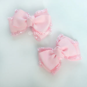 Mini Tribow Light Pink Hairclips