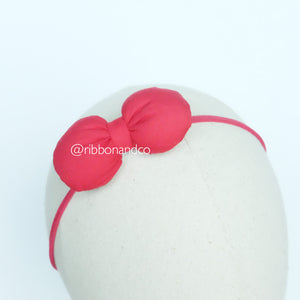 Mini Round Pillow Red