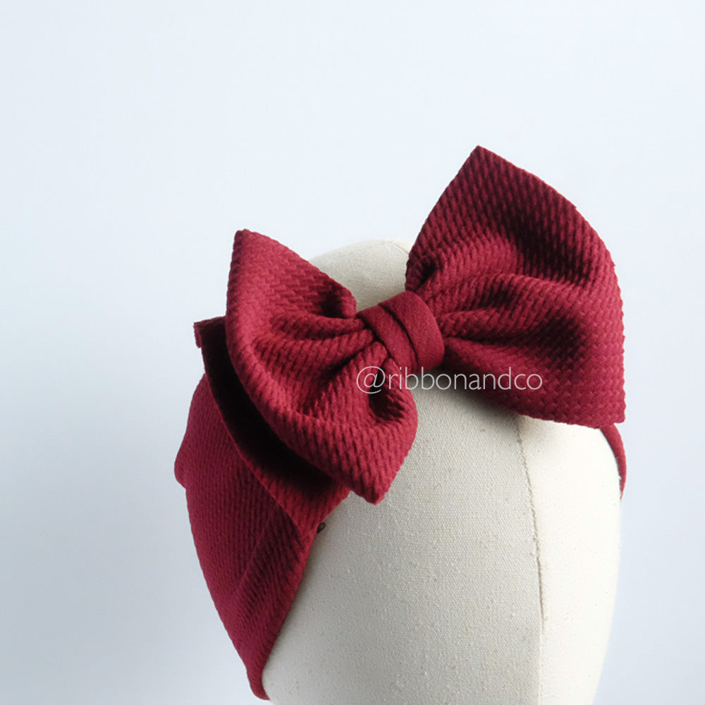Ashley Bow Medium Maroon