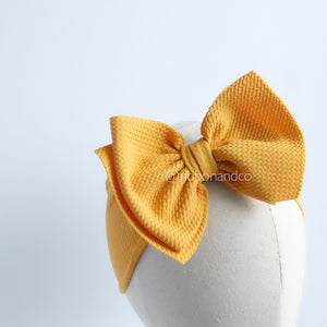 Ashley Bow Medium Mustard