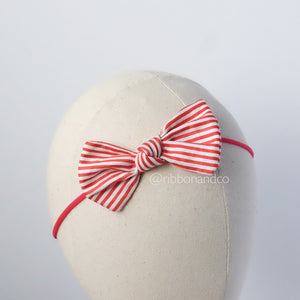 Butterfly Bow red white stripe