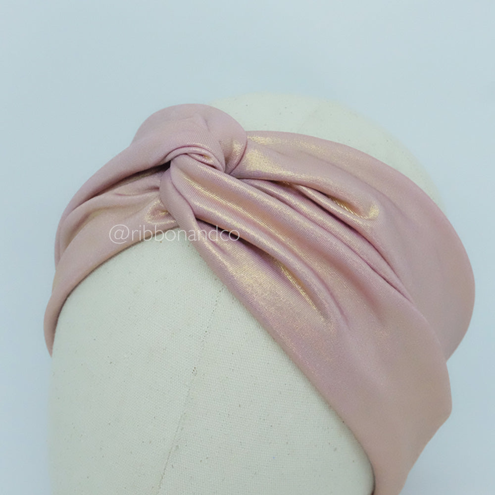 Knot Wrap Dusty Pink Metallic