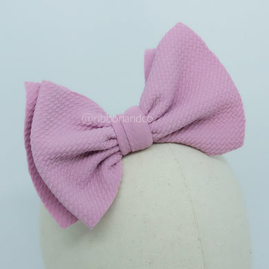 Ashley Bow Medium Pink ( French Barrette )