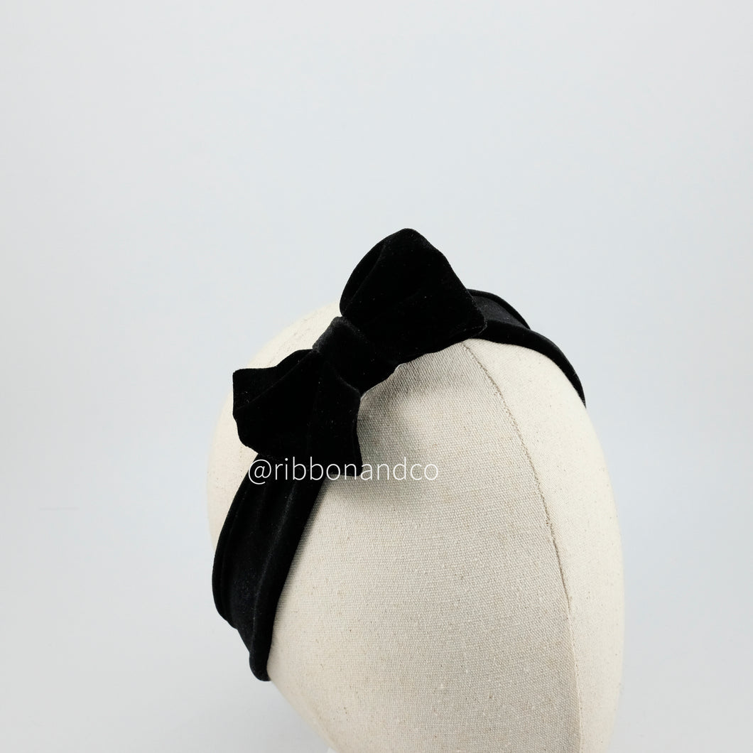 Mini Velvet Bow Black