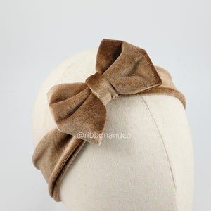 Mini Velvet Bow Mocca