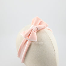 Mini Velvet Bow Peach