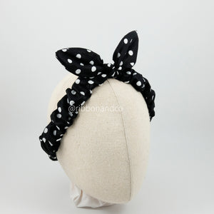 Bunny Wrinkle Polka Black