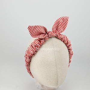 Bunny Wrinkle Red Stripes
