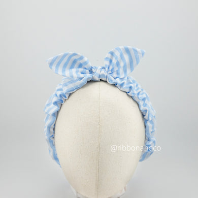 Bunny Wrinkle Blue Stripes