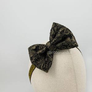 Korean Lace Bow Black