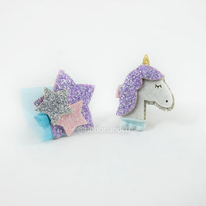 Unicorn Clip Set
