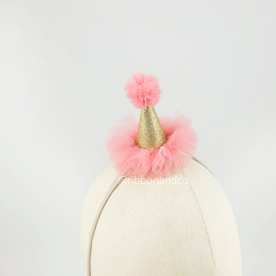 Nano Party Hat Gold Pinkpeach