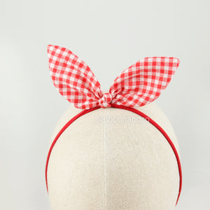 Bunny Red Gingham
