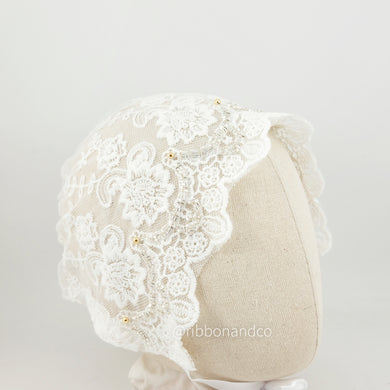 Bonnet Lace Off White