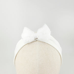 Tulle Bow Band White