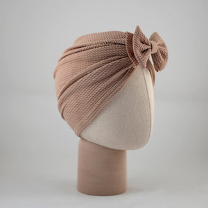 Ashley Bow Mini Latte Turban
