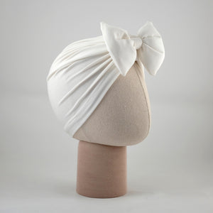 Turban Bow Rachel White