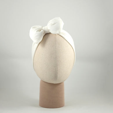 Rachel Bow White Headband