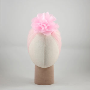 Organza Candice Flower Light Pink Turban