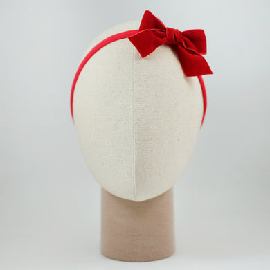 Ribbon Kakee Velvet In Red