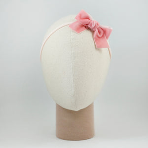 Ribbon Kakee Velvet In Light Pink