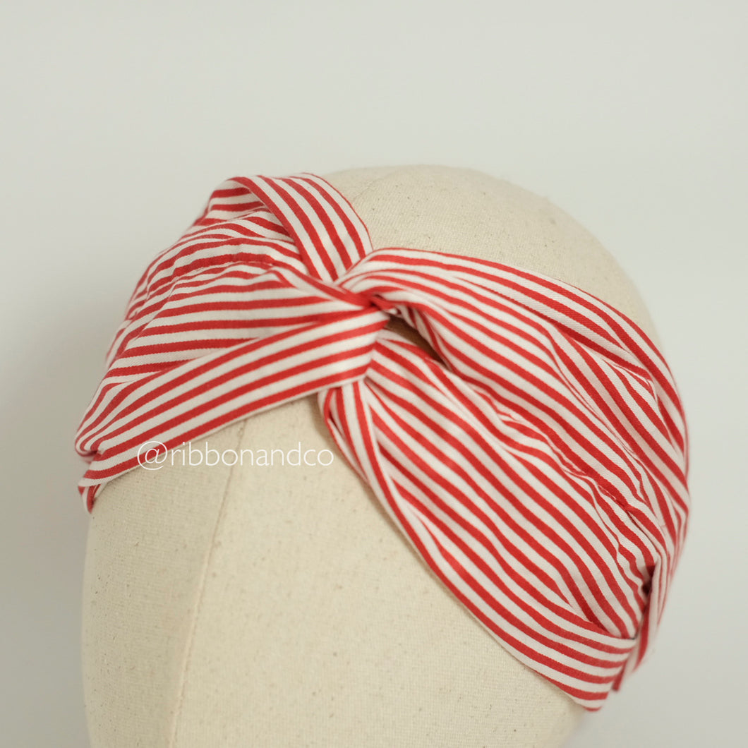 Knot Wrap Red Stripes