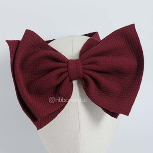 Ashley Bow Big Maroon