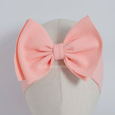 Ashley Bow Medium Peach