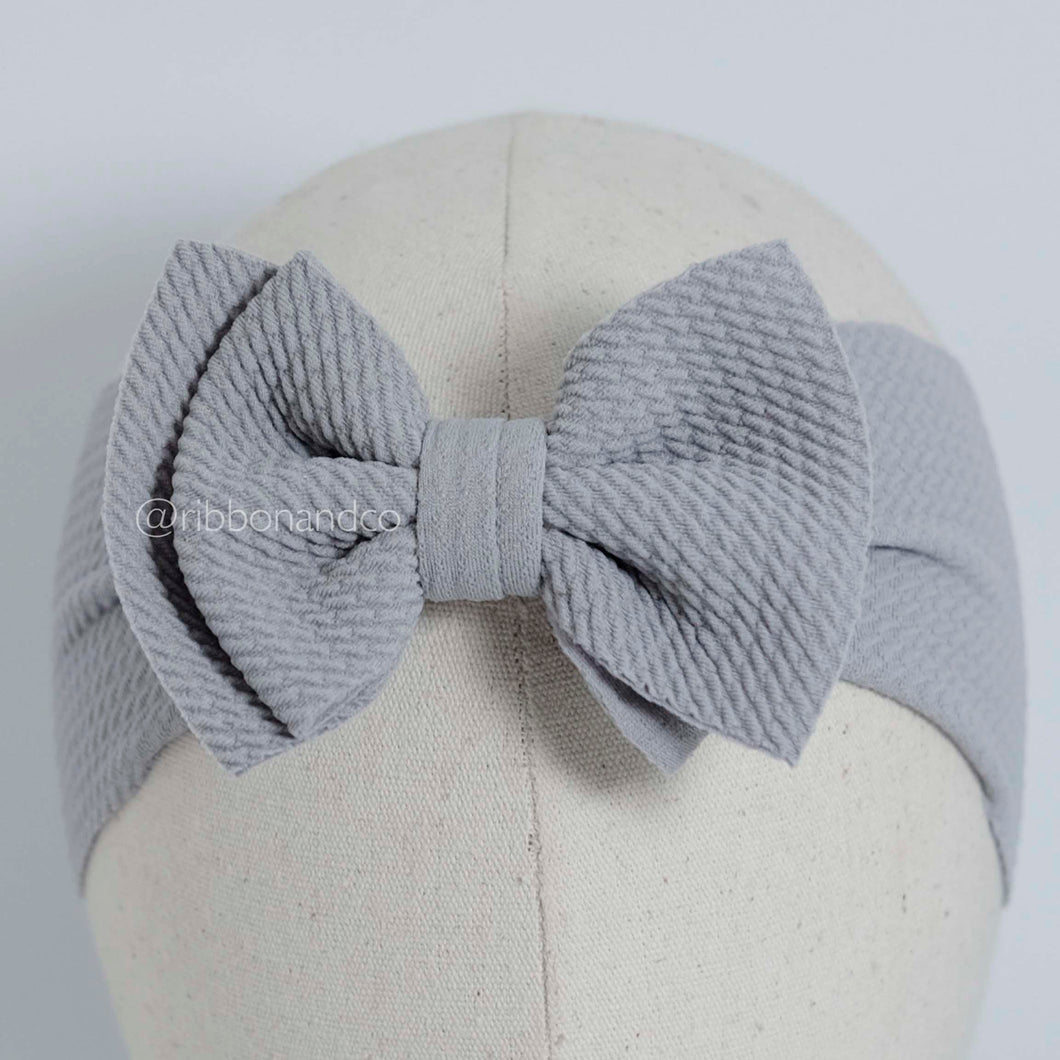 Ashley Bow Mini Grey