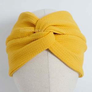 Knot Wrap Yellow Mustard